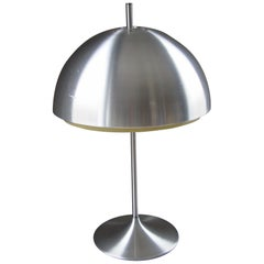 Midcentury Danish Pop Art Tulip Foot Aluminium Table Lamp, 1960