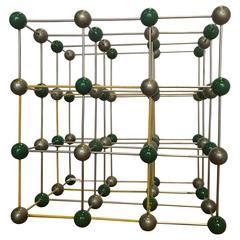 Vintage Ball and Stick Molecular Model of Salt