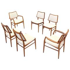 Set of Six Rare Early Erno Fabri Dining Chairs