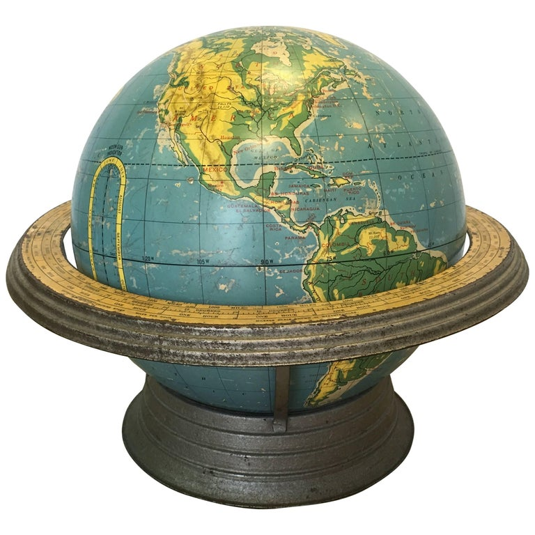 Cram's Terrestrial Globe For Sale