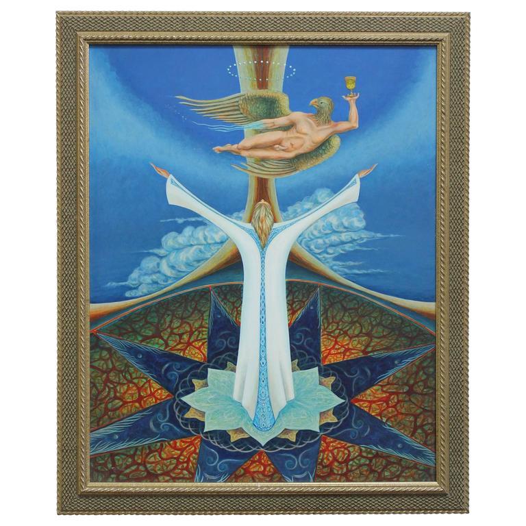 Jose Laffitte Oil on Masonite Painting, 1971