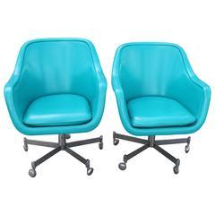 Pair of Ward Bennett Office Chairs