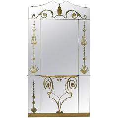 Mirror with Console, 1950s, Pier Luigi Colli