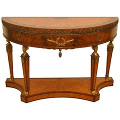 Egyptian Style Mahogany Console with Satinwood Inlay by Maitland-Smith