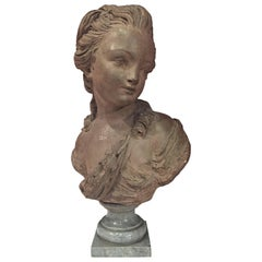 French Bust of a Young Woman