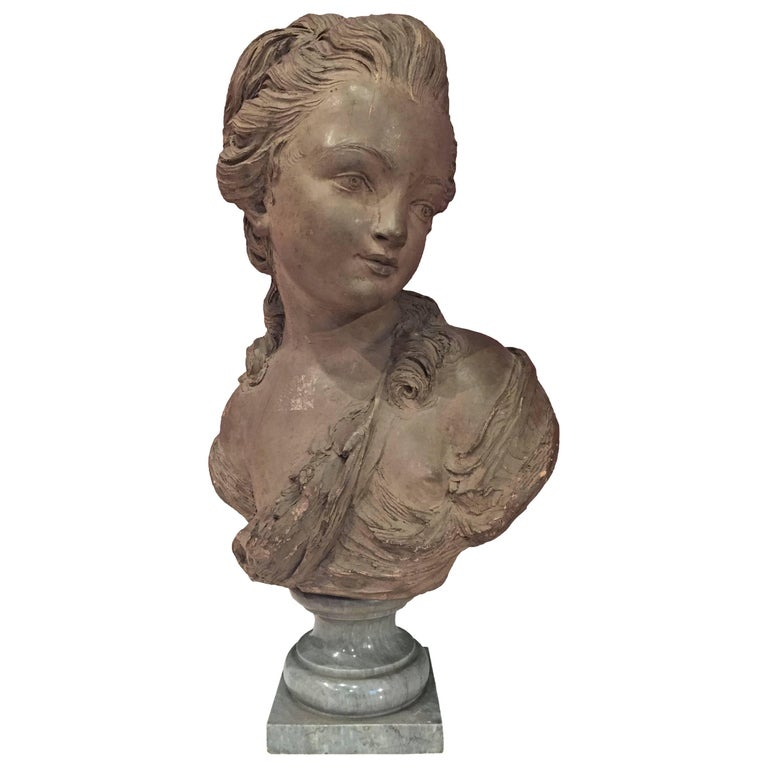 French Bust of a Young Woman For Sale