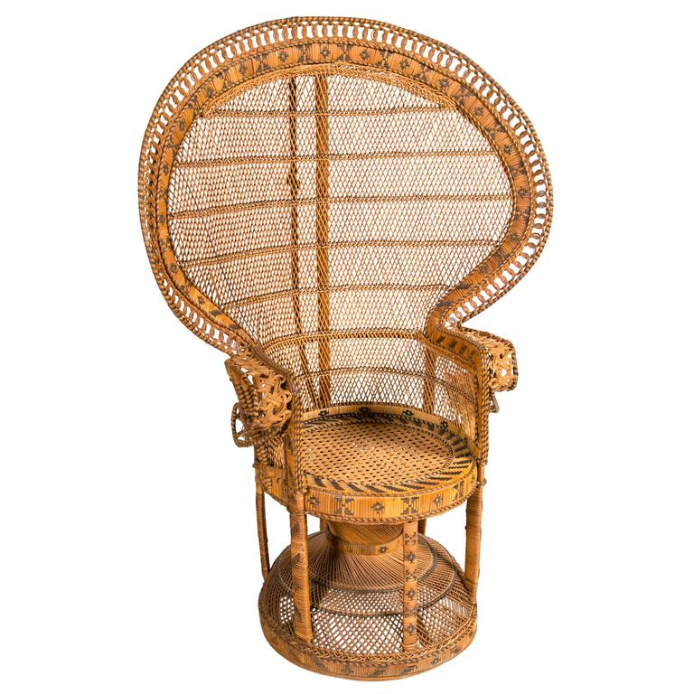 Lovely Wicker Peacock Chair #23 - Rattan Peacock Chair For Sale