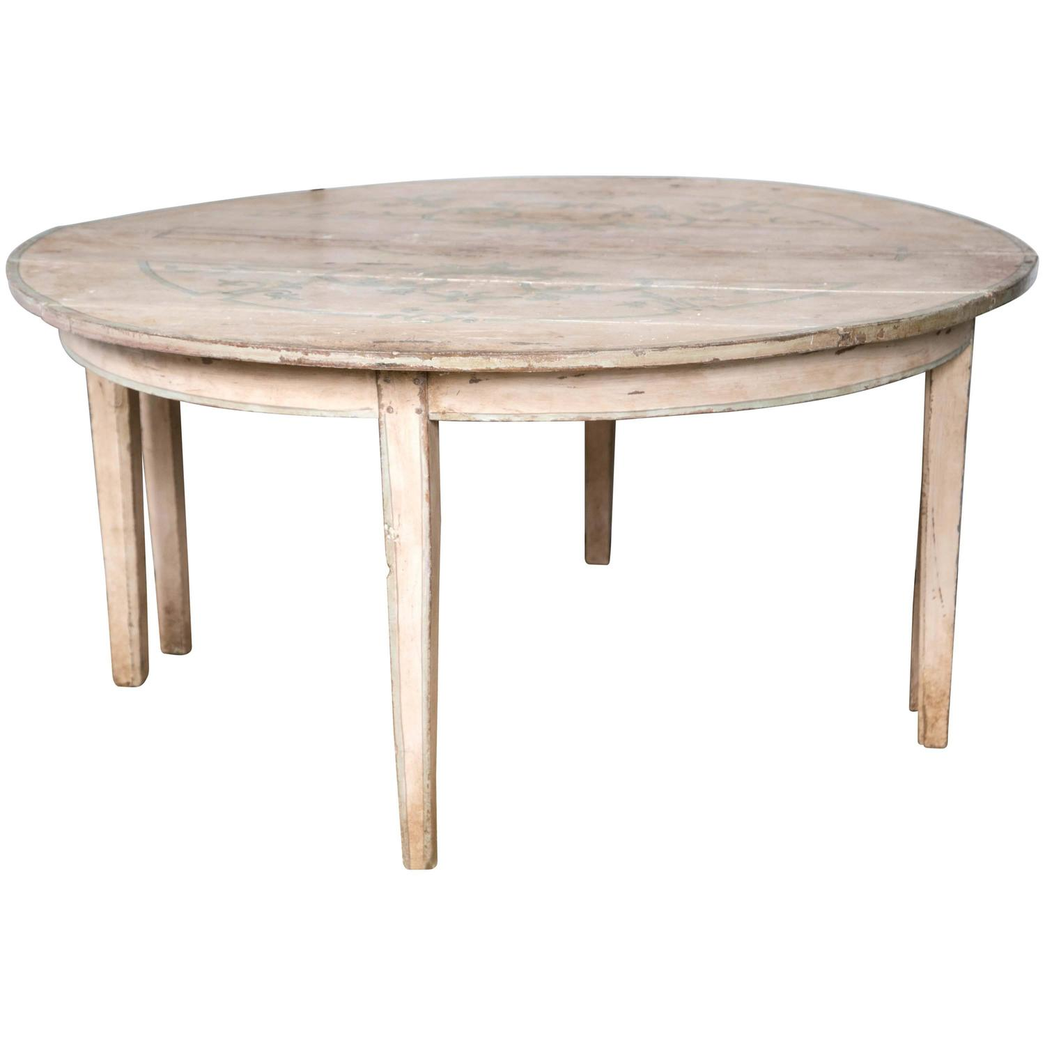 Round painted dining table for sale at 1stdibs for Dining room tables for sale
