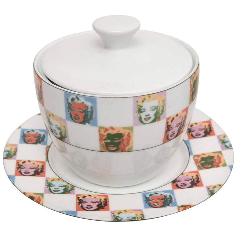 "Large Andy Warhol ""Marilyn Monroe"" Dinner Service for 24, Plus Serving Pieces For Sale"