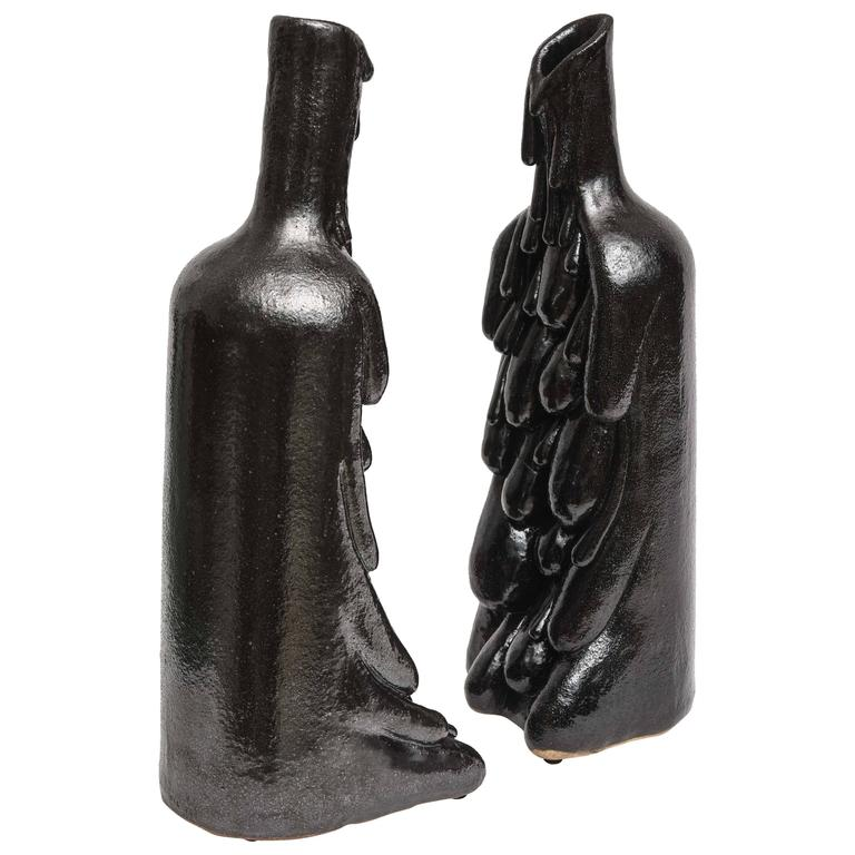 American Modern Ceramic Vase/Sculpture, Daric Harvie For Sale