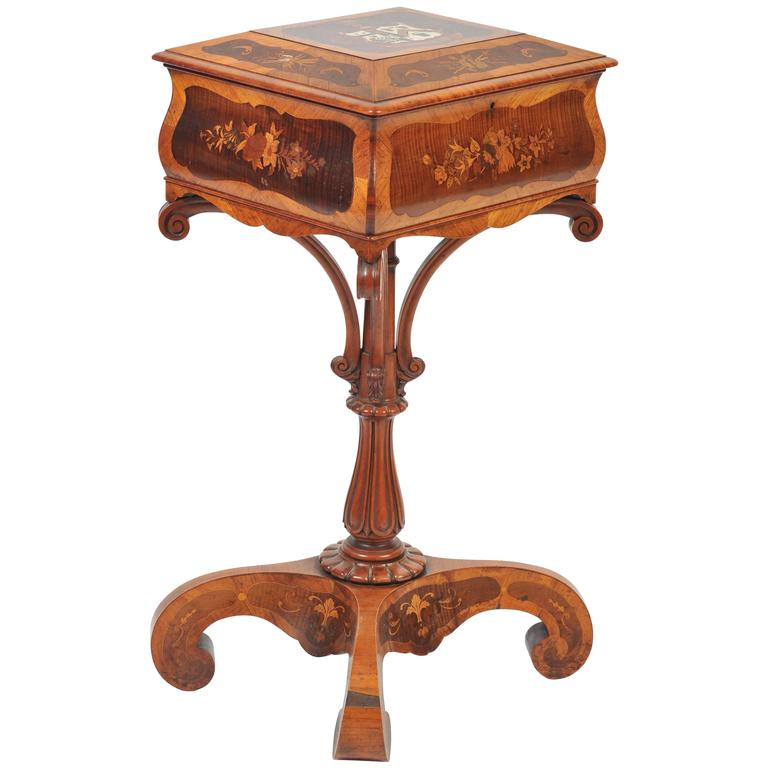 19th century continental teapoy for sale at 1stdibs for Teapoy table designs
