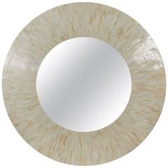 Large Tessellated Bone Mirror