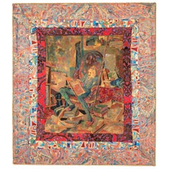 Late 19th Century Wall Hanging Depicting Don Quixote