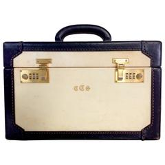 1960s Italian Vellum and Leather Train Case