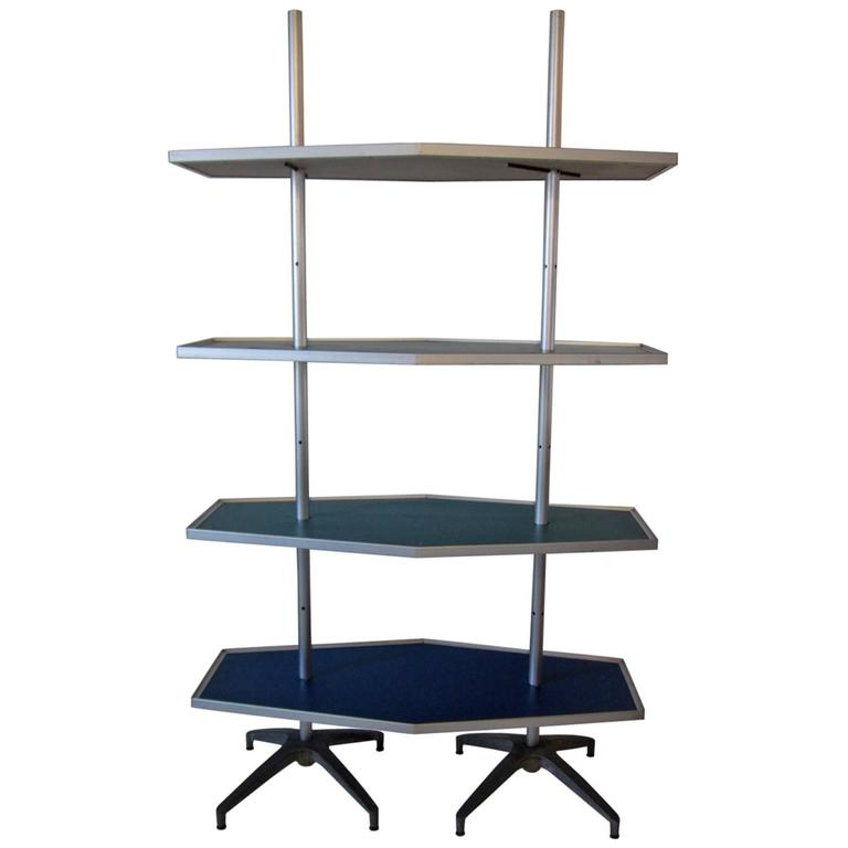 Mid-Century Modern Industrial Shelving Unit