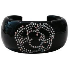 """Chanel """"Camilla"""" Swarovski Crystal and Lucite Cuff"""