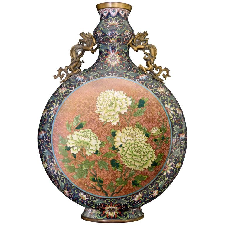 19th Century Chinese Moon Flask For Sale