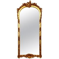 19th-Century Carved Giltwood Mirror