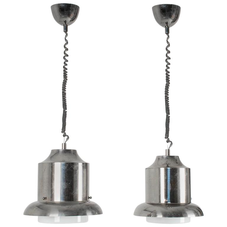 """Pair of """"Ebe"""" Suspensions by Sergio Asti and Sergio Favre for Artemide, 1963 For Sale"""