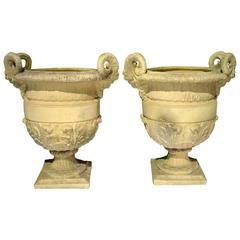 Pair of Cast Stone 'Versailles' Urns