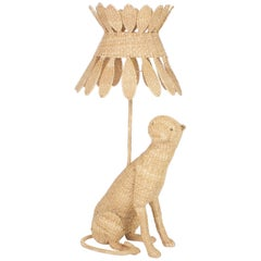 Amusing Mario Lopez Torres Wicker Cat Lamp