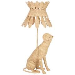 Amusing Mario Lopez Torres Wicker Cat Lamp