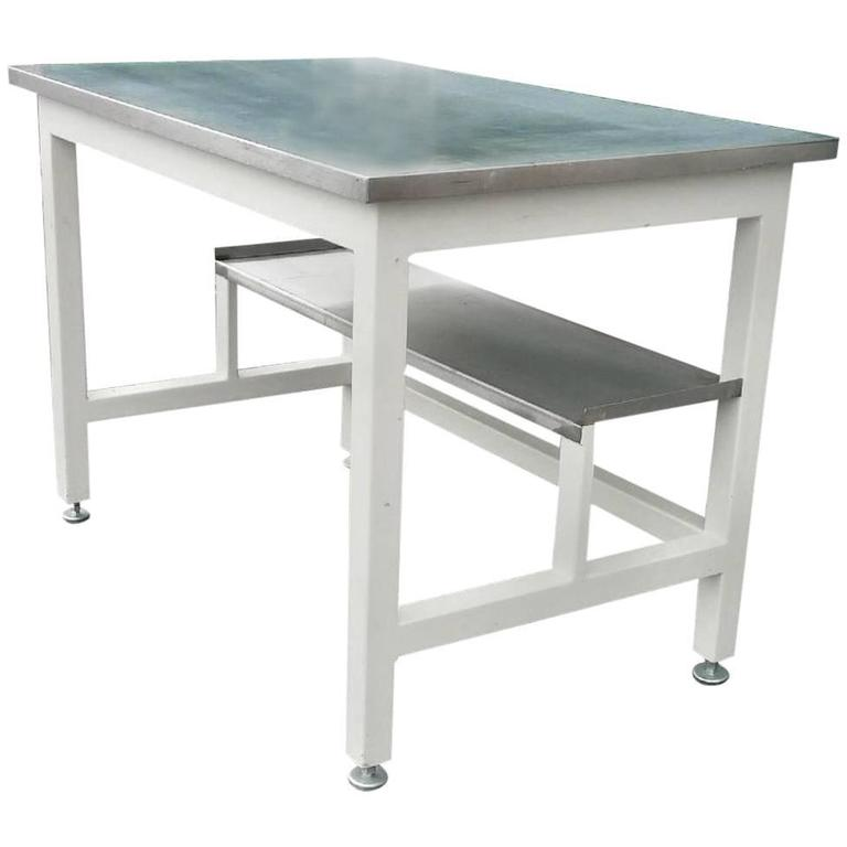 Lab Work Table Desk Of Stainless Steel From Science