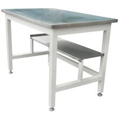 Lab Work Table Desk of Stainless Steel from Science Classroom