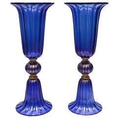 Pair of Vases in Murano Glass