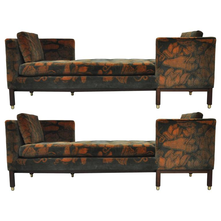Dunbar Tete-a-tete Sofas by Edward Wormley For Sale