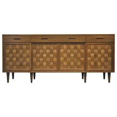 Dunbar Woven Front Credenza by Edward Wormley