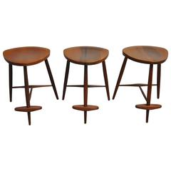 George Nakashima Counter Stools