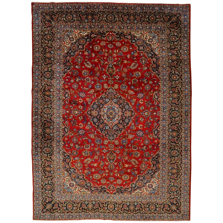 Persian Rugs For Sale: Antique Kashan Persian Rug For Sale At 1stdibs