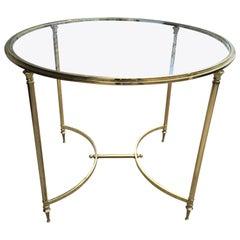 Oversized Brass Directoire Style Gueridon Table Style of Maison Jansen