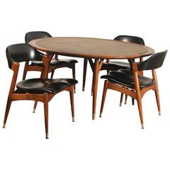 Americana Casual Game Table, Chairs by Jack Van der Molen for Jamestown Lounge