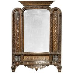 Middle Eastern Carved Mirror