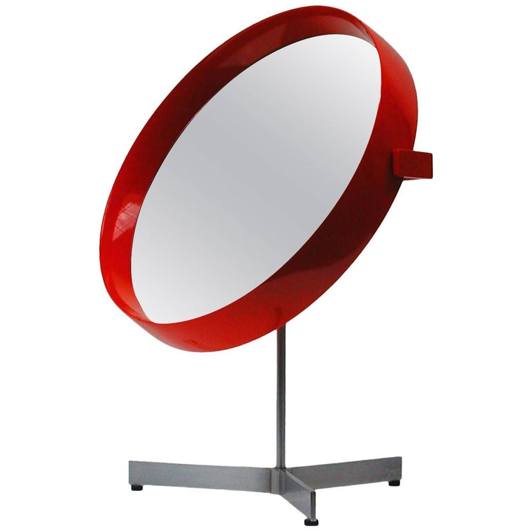 Mid-Century Uno and Osten Kristiansson Table Mirror for Luxus Vittsjö For Sale