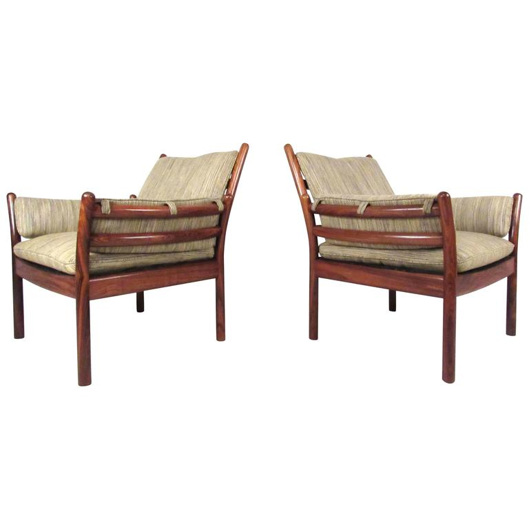 Illum Wikkelsø Rosewood Lounge Chairs for CFC Silkeborg