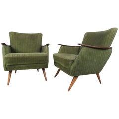 Unique Mid-Century Modern Danish Lounge Chairs