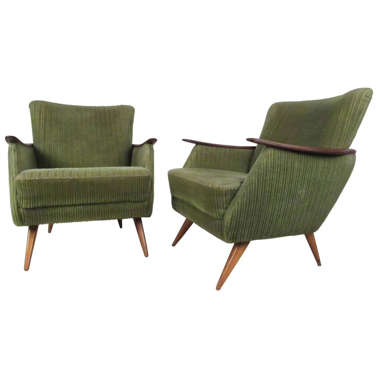 Unique Furniture For Sale: Unique Mid-Century Modern Danish Lounge Chairs For Sale At