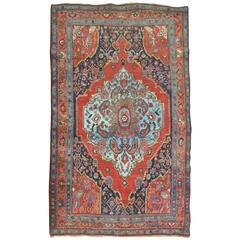 Pictorial Antique Persian Bidjar Rug