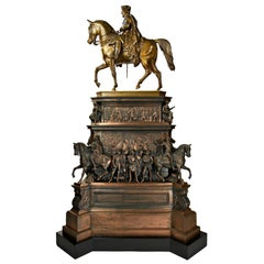 Very Impressive, circa 1860 Model of the Friedrich II Equestrian Monument Berlin