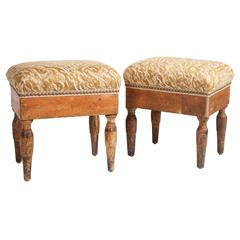 Pair of Antique Italian Stools
