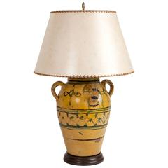 Antique Spanish Olive Jar Lamp