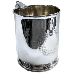 Geo. 1 Britannia Standard Silver Tankard, Wm. Fleming, Maker, London, 1718-1719