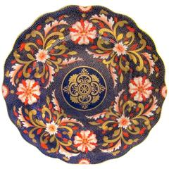 Royal Crown Derby Cobalt and Gold Porcelain Imari Cabinet Plate