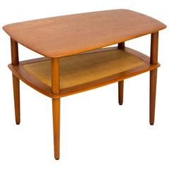 Danish Solid Teak Occasional or End Table, Peter Hvidt for John Stuart