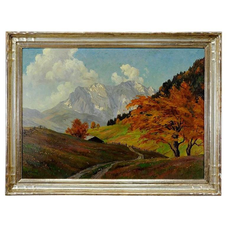 Tyrol Landscape Painting by Erwin Kettemann, circa 1930