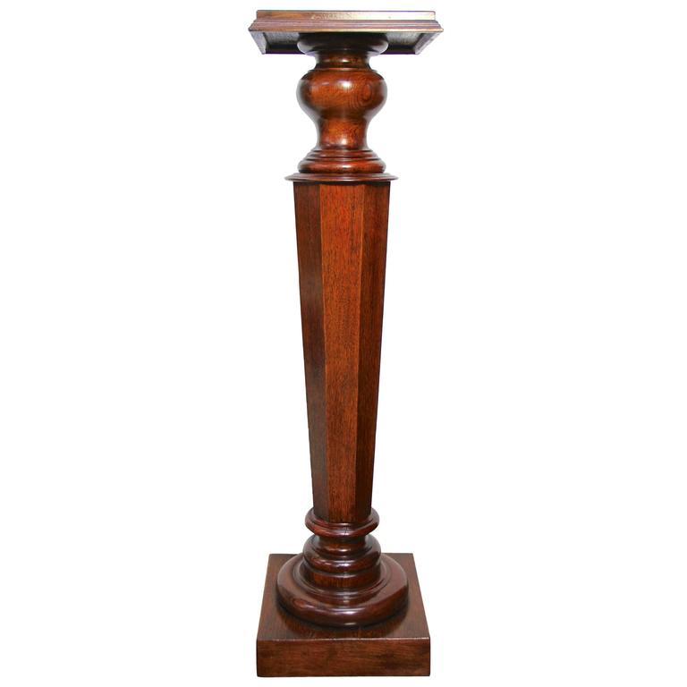 Neoclassical Oak Pedestal, circa 1880