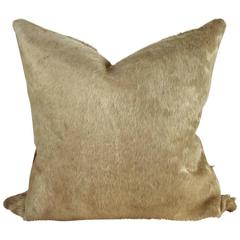 Double-Sided Champagne Cowhide Pillow